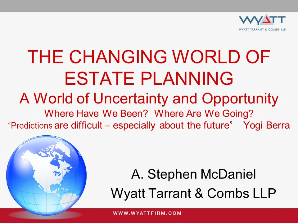 Blowing in the Wind  We Are In The Midst Of The Most Radical Changes In The Estate Planning Profession Since The Federal Estate Tax Was Reinstated For The 4 th Time In 1916  Death Taxes No Longer Drive The Train  In 2014 Fewer Than 4,000 Estates Will Be Subject To Death Tax  That Is Less Than 1/2 Of 1 % Of Those Who Die
