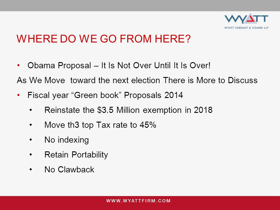WHERE DO WE GO FROM HERE. Obama Proposal – It Is Not Over Until It Is Over.