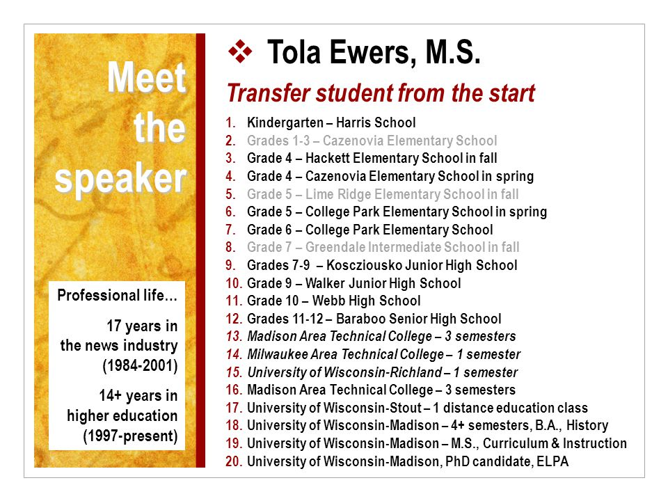 Meet the speaker  Tola Ewers, M.S.