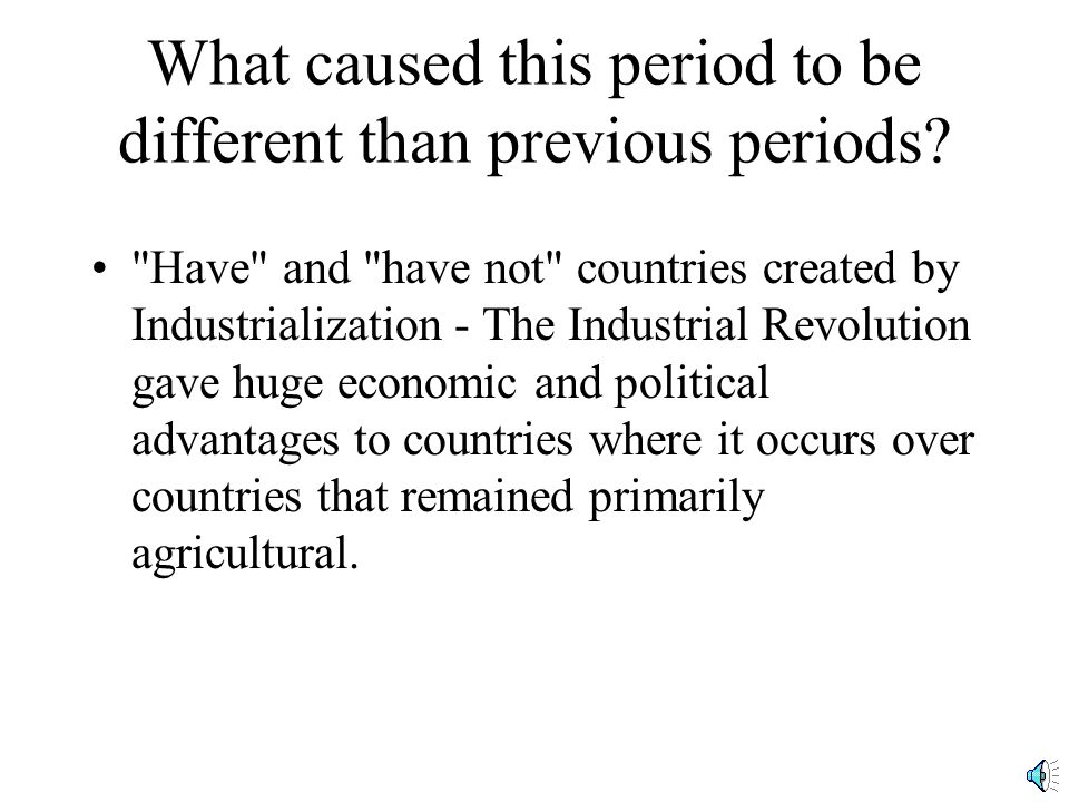 What caused this period to be different than previous periods.