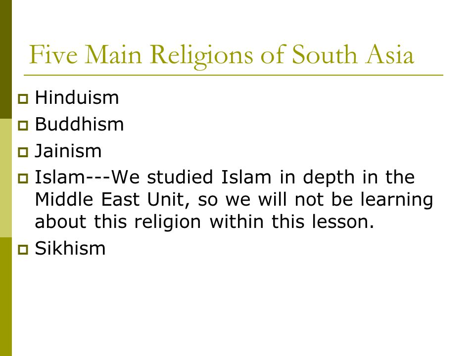 What Religions are found in India.