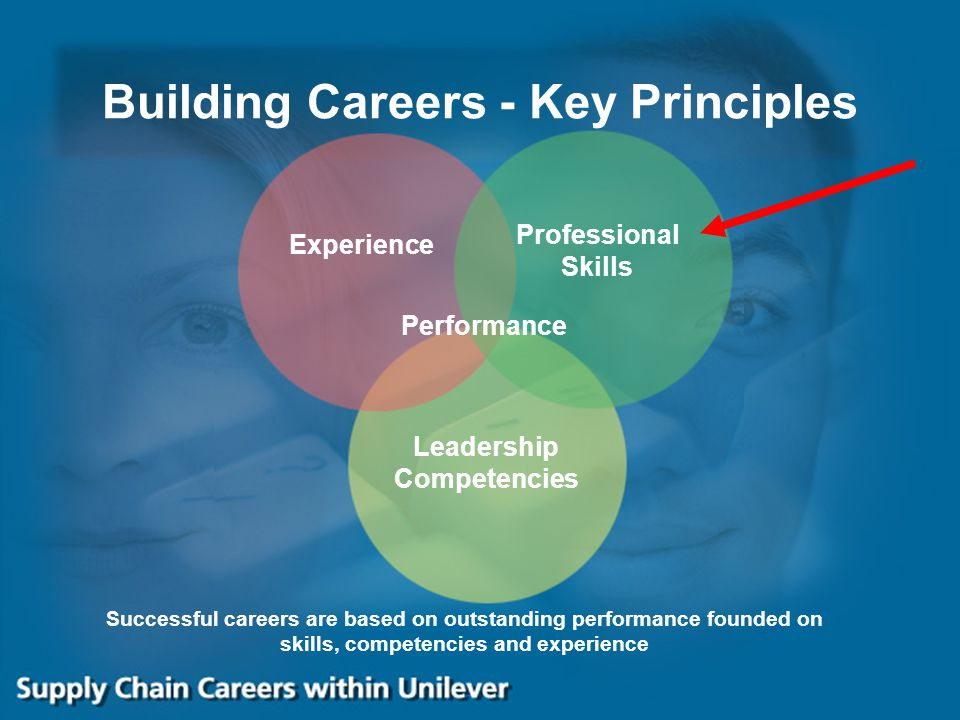 Building Careers - Key Principles Successful careers are based on outstanding performance founded on skills, competencies and experience Experience Pr