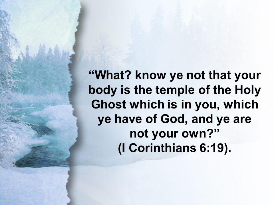 I Corinthians 6:19 What.