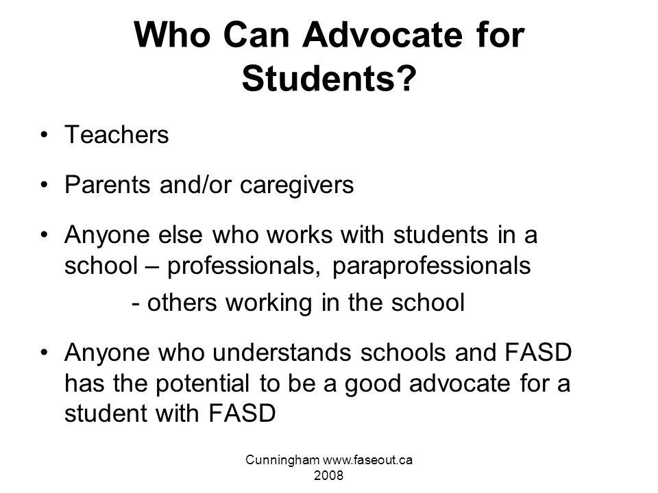 Cunningham www.faseout.ca 2008 FASD Advocacy.