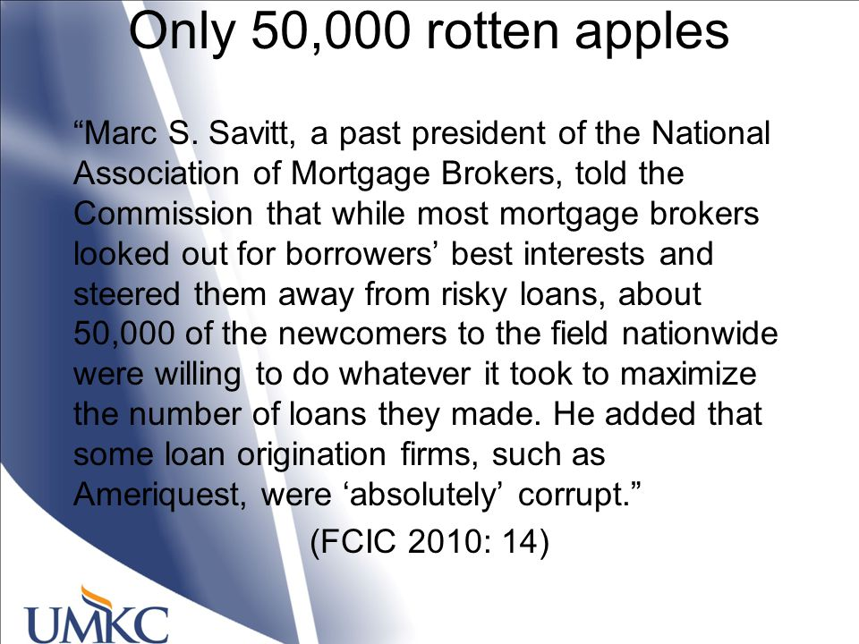 Only 50,000 rotten apples Marc S.