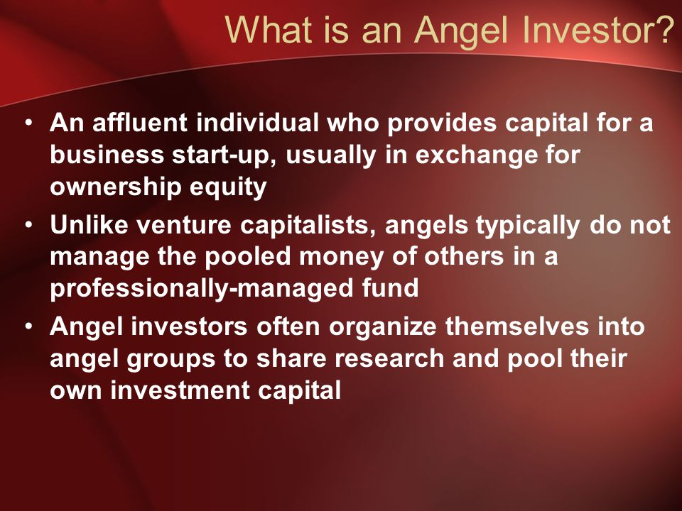 What is an Angel Investor.