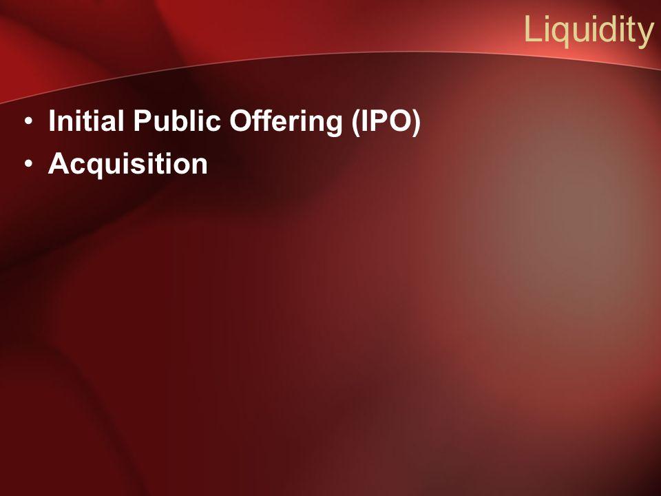 Liquidity Initial Public Offering (IPO) Acquisition