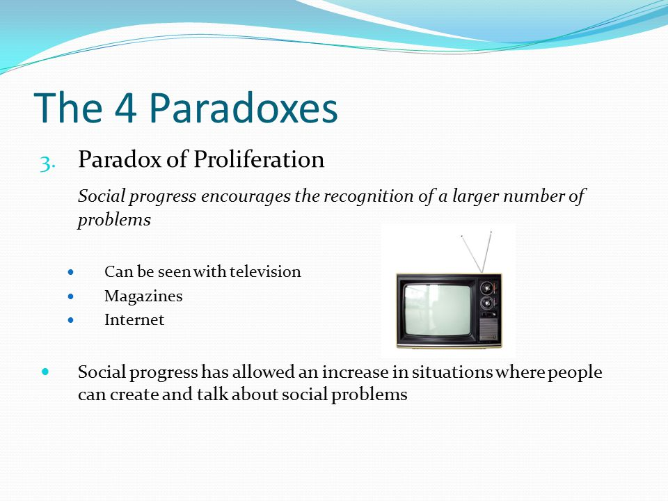 The 4 Paradoxes 3.