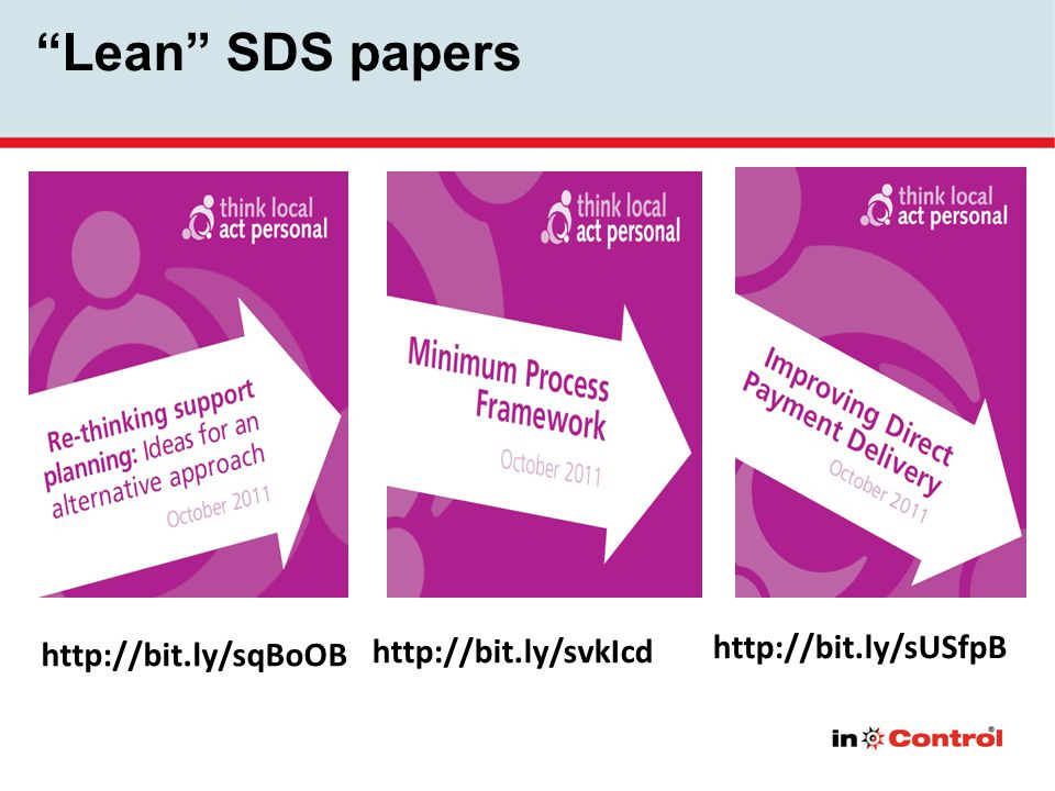 Lean SDS papers http://bit.ly/sqBoOB http://bit.ly/svkIcd http://bit.ly/sUSfpB
