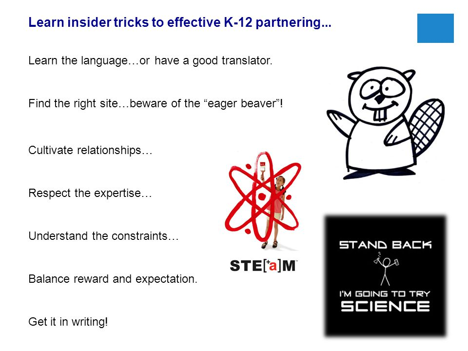 Learn insider tricks to effective K-12 partnering...