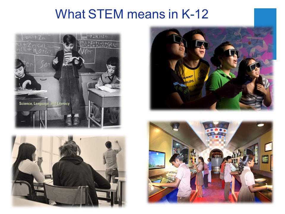 What STEM means in K-12