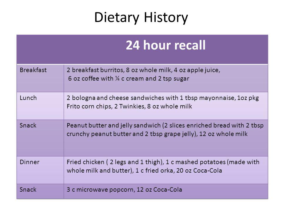 Dietary History