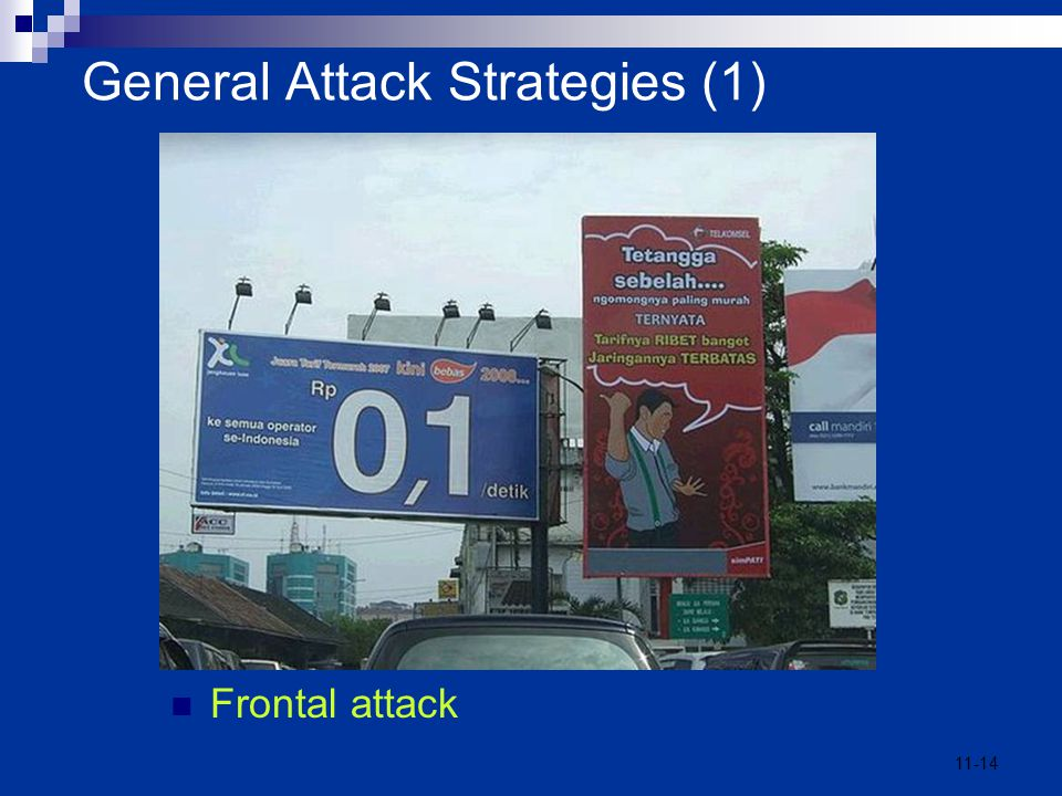 11-14 General Attack Strategies (1) Frontal attack