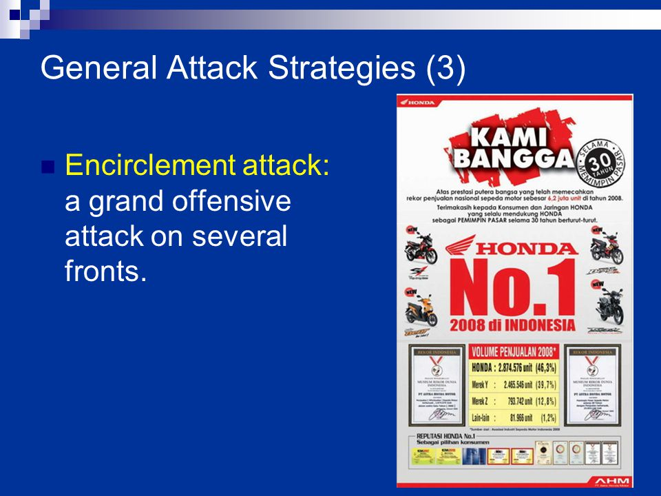 11-16 Encirclement attack: a grand offensive attack on several fronts. General Attack Strategies (3)