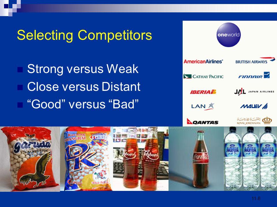 "11-8 Selecting Competitors Strong versus Weak Close versus Distant ""Good"" versus ""Bad"""