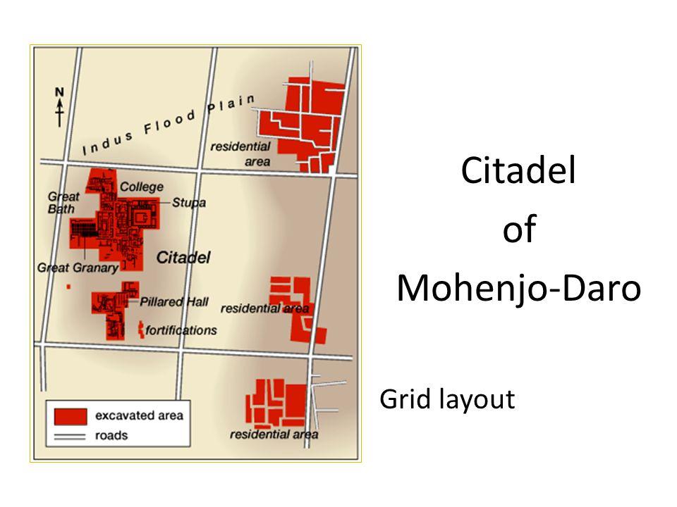 Citadel of Mohenjo-Daro Grid layout