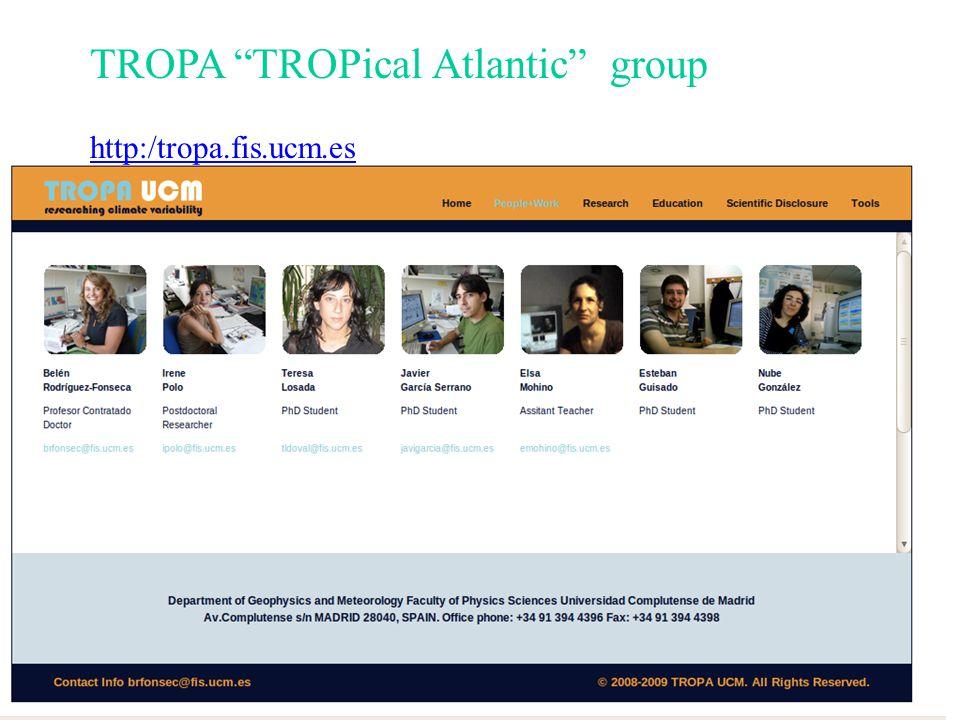 Importancia del Mediterráneo en Variabilidad Climática Global TROPA tiene ganas de colaborar UCM - TROPA ?