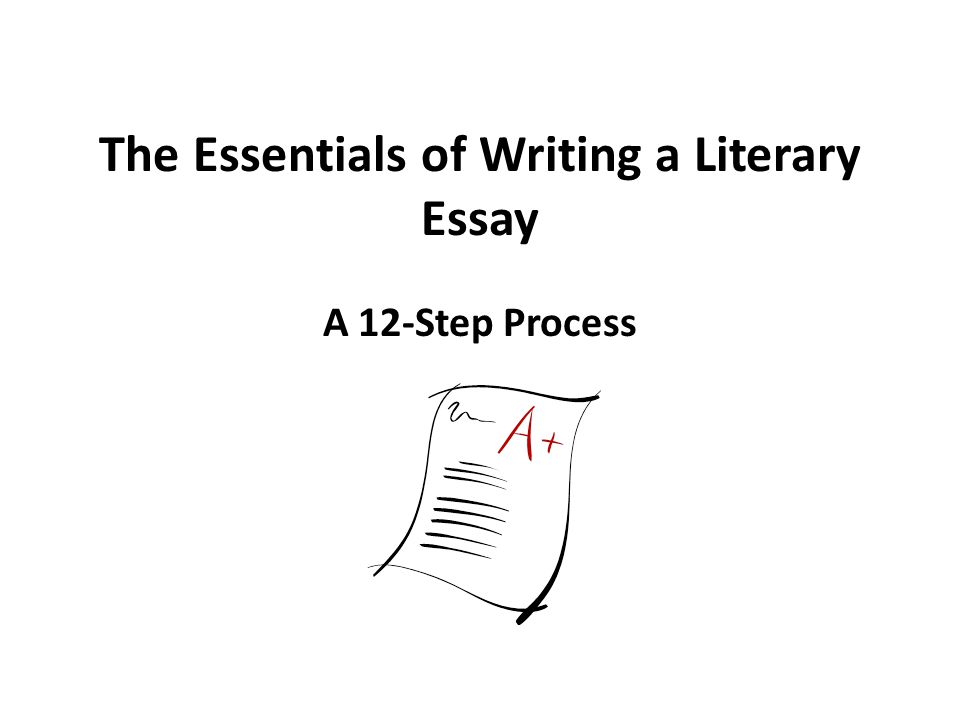 Writing A Thesis For A Literary Essay