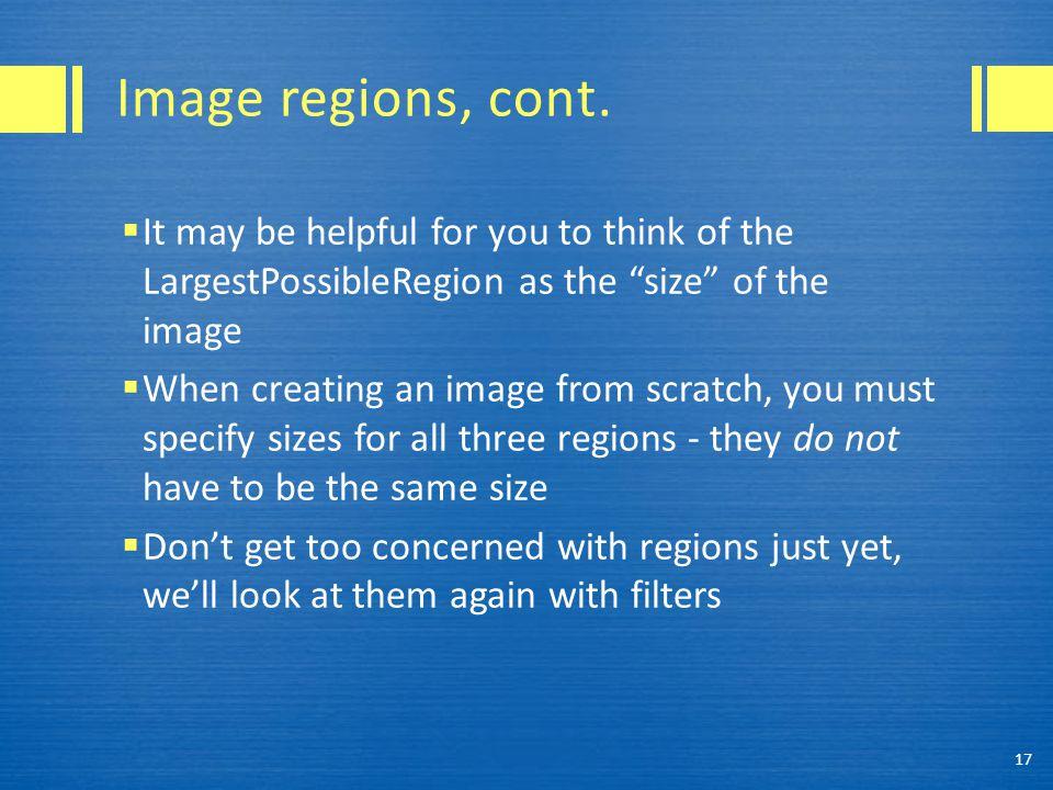 Image regions, cont.