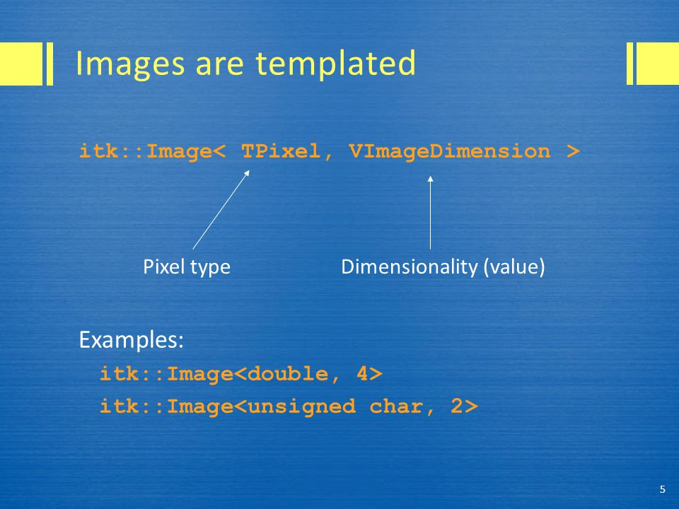 The transform in action First, create the index: ImageType::IndexType pixelIndex; Next, run the transformation: image->TransformPhysicalPointToIndex( point,pixelIndex ); Now we can access the pixel.