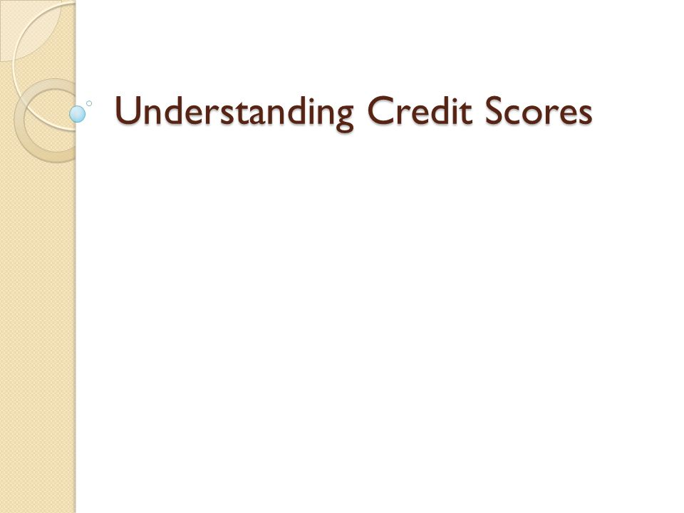 Introduction ◦ A credit score is a three-digit number derived from a mathematical interpretation of the information in a person s credit files.