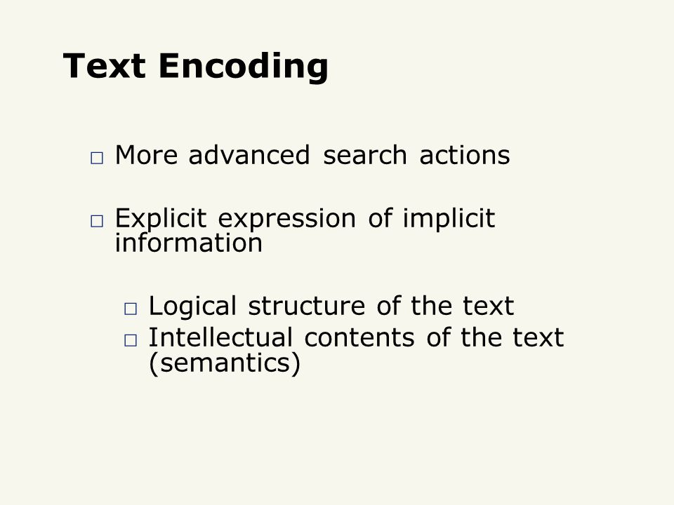Comments Used to improve the readability of the XML document: