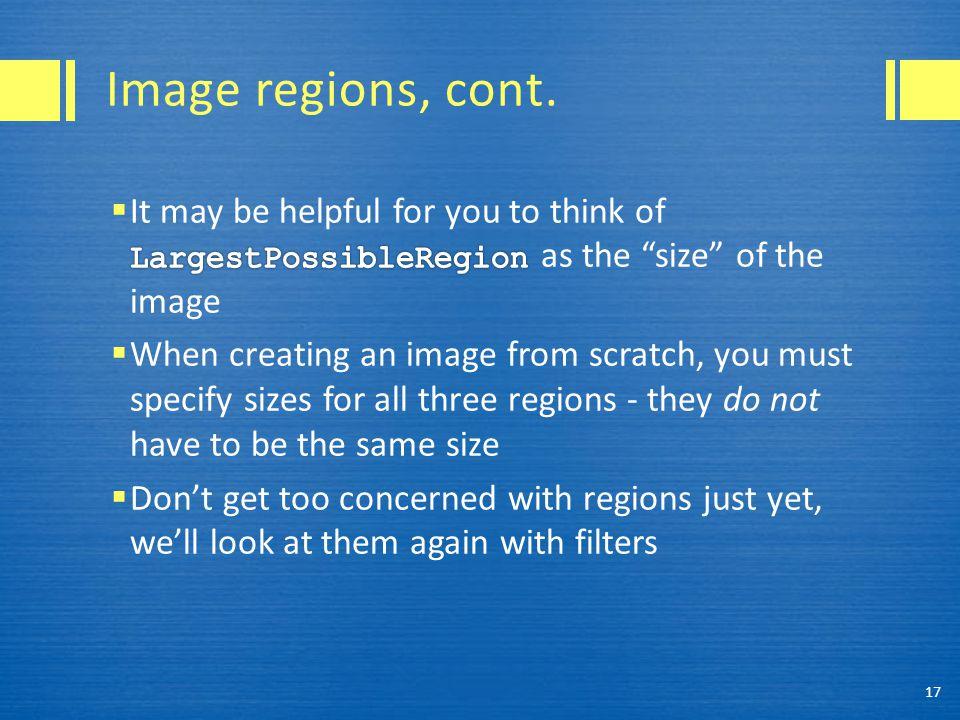 Image regions, cont. 17