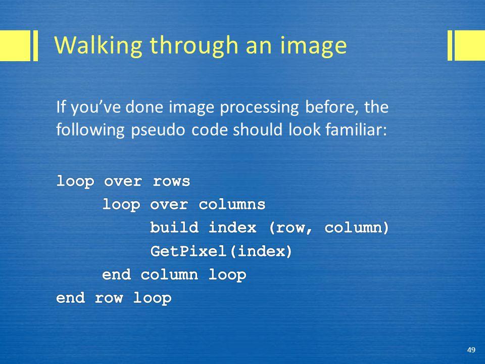 Walking through an image 49