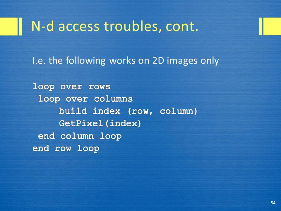N-d access troubles, cont. 54