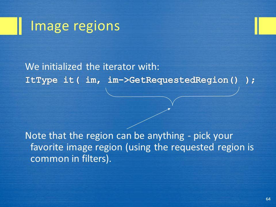 Image regions 64