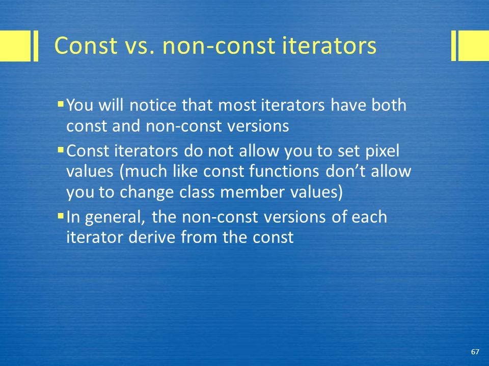 Const vs.