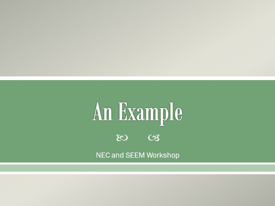  NEC and SEEM Workshop