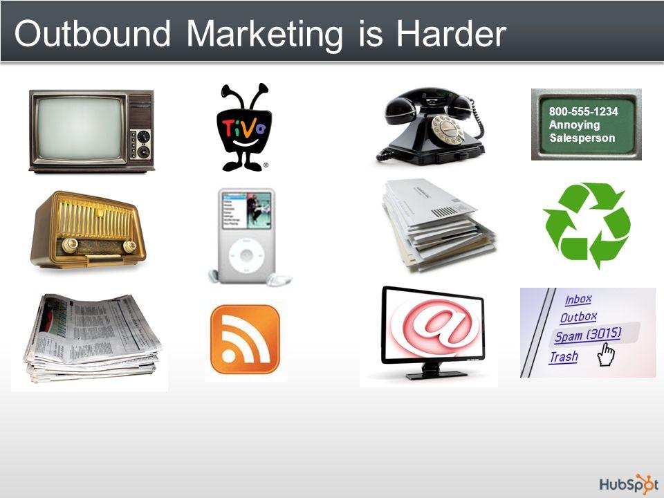 Outbound Marketing is Harder 800-555-1234 Annoying Salesperson