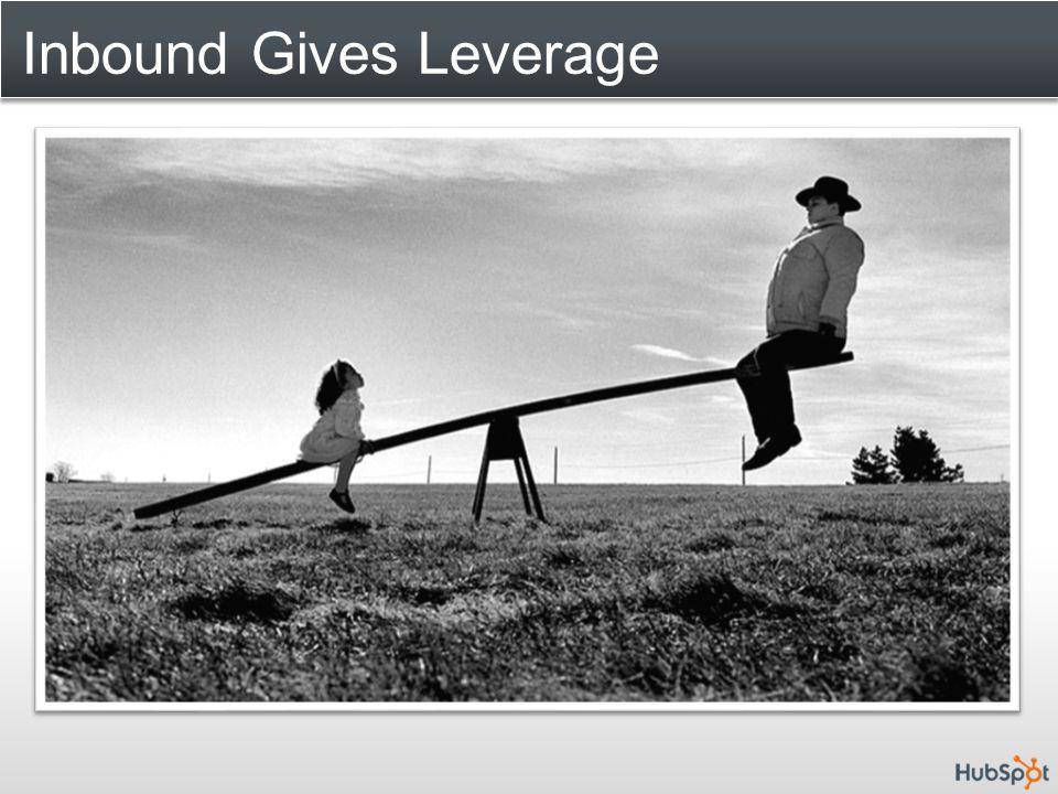 Inbound Gives Leverage