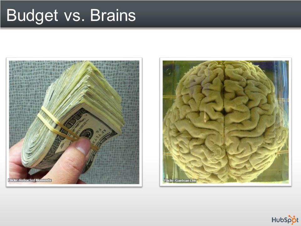 Budget vs. Brains