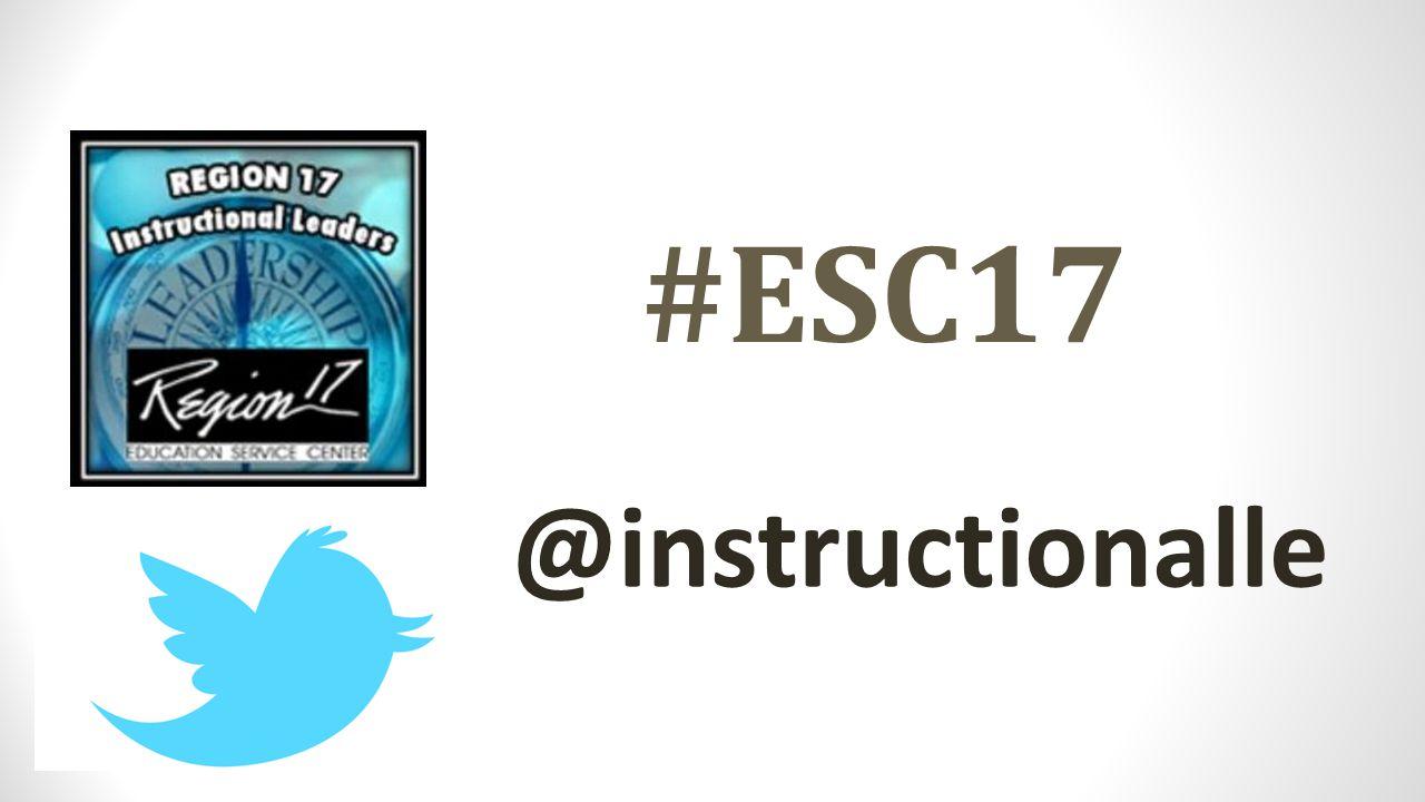 #ESC17 @instructionalle