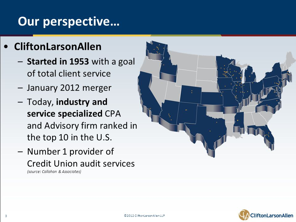 ©2012 CliftonLarsonAllen LLP 14 Interest Rate Risk Policy and Program 2/2/12 The NCUA is issuing a final rule requiring Federally insured credit unions develop and adopt a written policy on interest rate risk management and a program to effectively implement that policy.