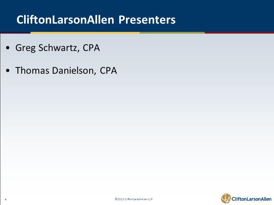©2012 CliftonLarsonAllen LLP 25 IRR Policy - 8 Required Elements 4.