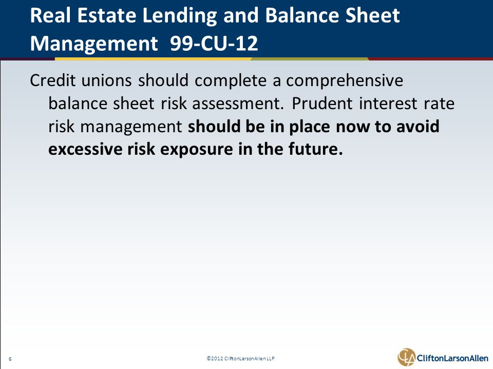©2012 CliftonLarsonAllen LLP 27 IRR Policy - 8 Required Elements 6.