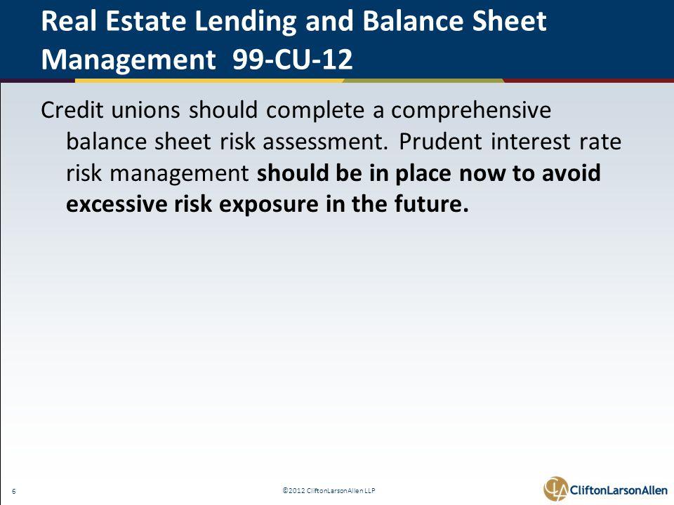 ©2012 CliftonLarsonAllen LLP 47 The Interagency Advisory on Interest Rate Risk Management - FAQ 10.