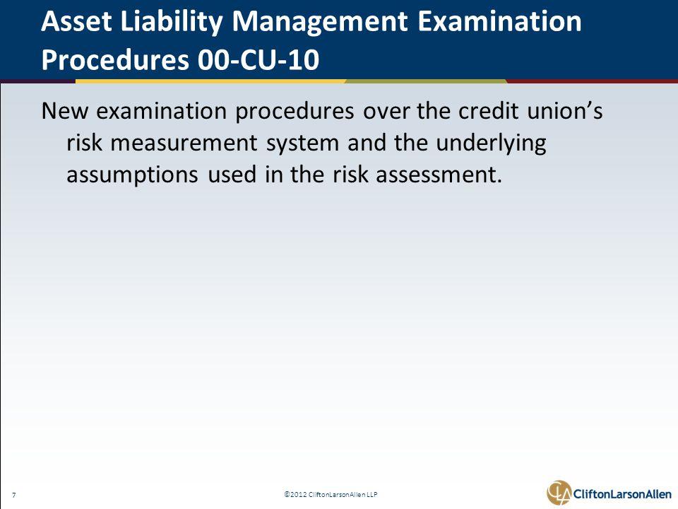 ©2012 CliftonLarsonAllen LLP 48 The Interagency Advisory on Interest Rate Risk Management - FAQ 11.