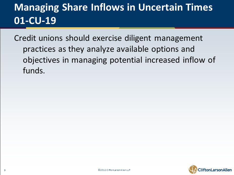 ©2012 CliftonLarsonAllen LLP 40 The Interagency Advisory on Interest Rate Risk Management - FAQ 3.