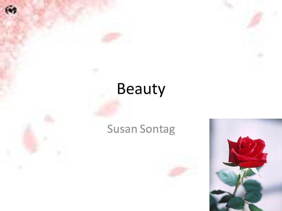 Beauty Susan Sontag