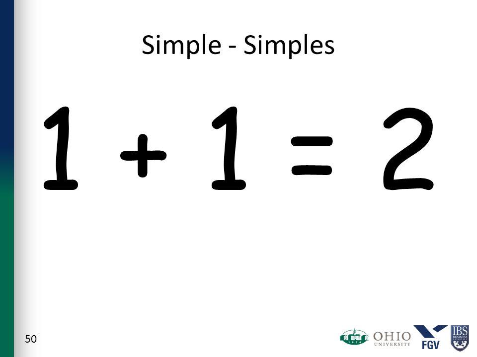 Simple - Simples 1 + 1 = 2 50