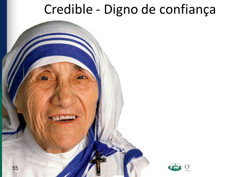 Credible - Digno de confiança 55