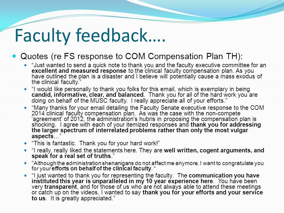 Faculty feedback….