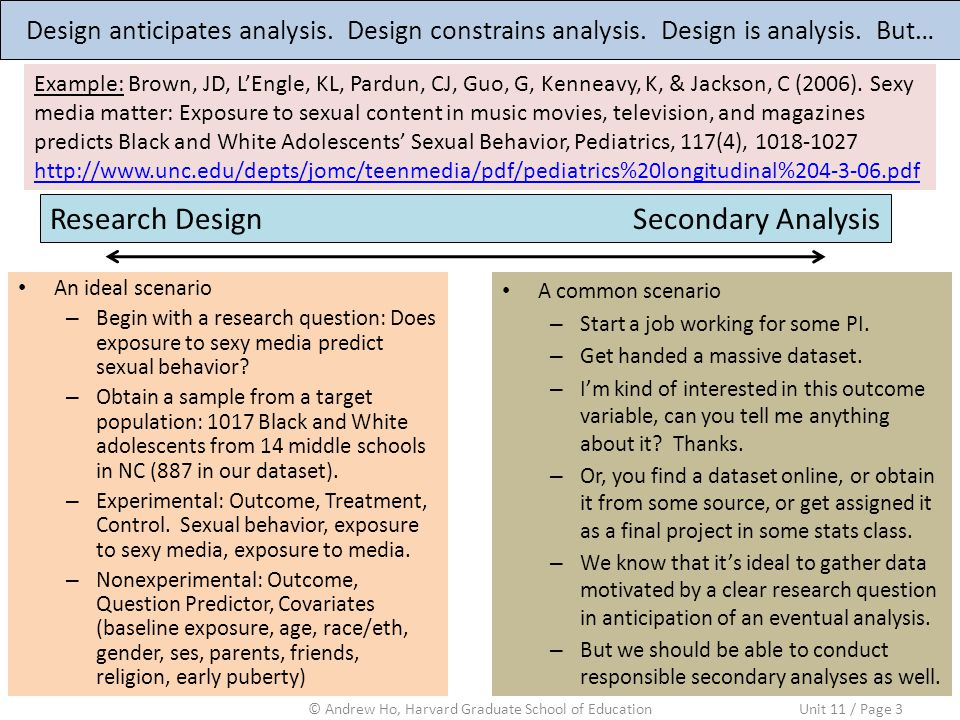 Design anticipates analysis. Design constrains analysis.