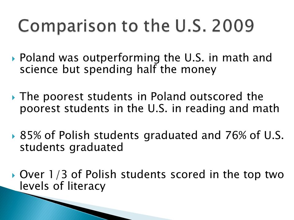  Poland was outperforming the U.S.