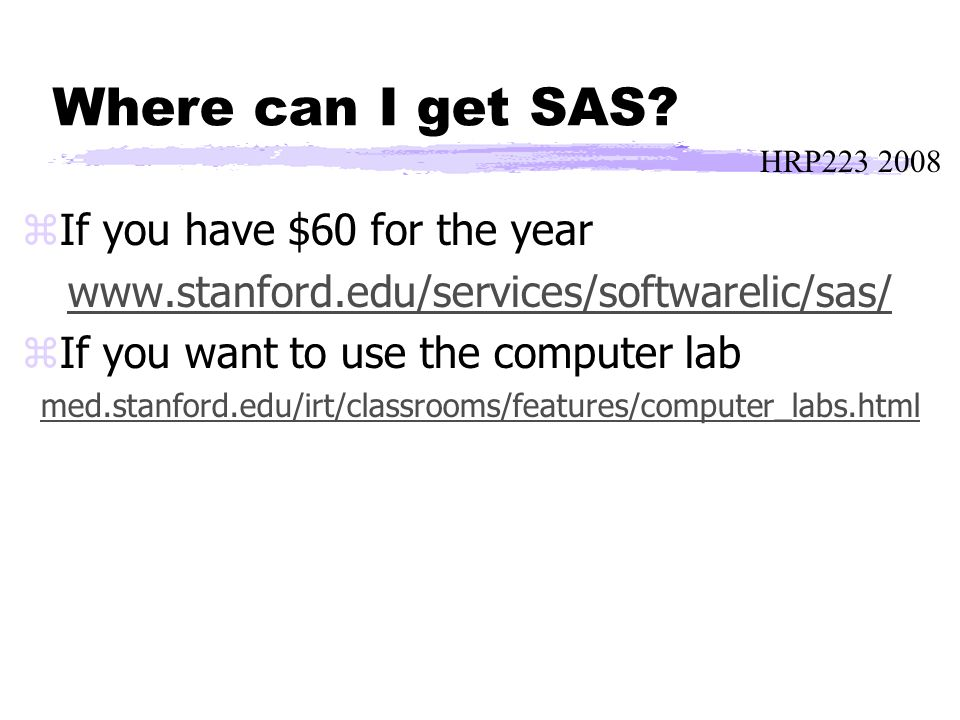 HRP223 2008 Where can I get SAS.