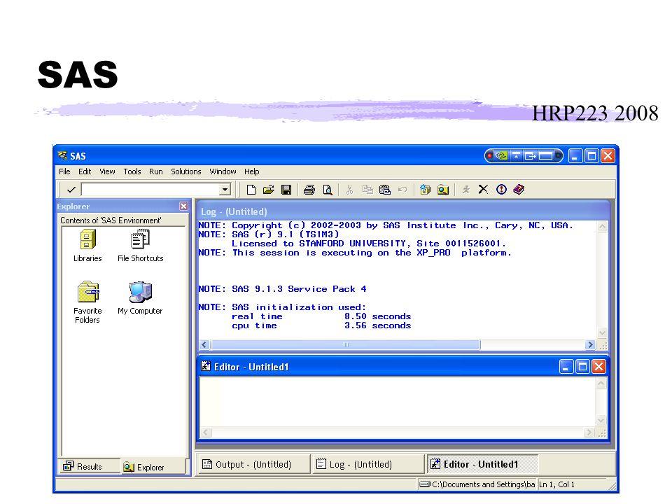 HRP223 2008 SAS
